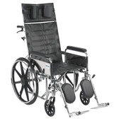 Sentra Reclining Wheelchair with Detachable Full Arms - std20rbdfa