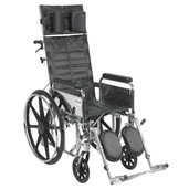 Sentra Reclining Wheelchair with Detachable Full Arms - std16rbdfa