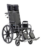 Sentra Reclining Wheelchair with Detachable Desk Arms - std18rbdda