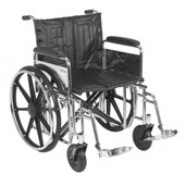 Sentra Extra Heavy Duty Wheelchair with Detachable Full Arms and Swing Away Footrest - std22dfa-sf