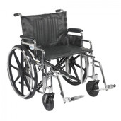 Sentra Extra Heavy Duty Wheelchair with Detachable Desk Arms and Swing Away Footrest - std24dda-sf