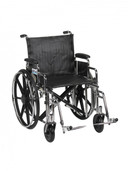 Sentra Extra Heavy Duty Wheelchair with Detachable Desk Arms and Swing Away Footrest - std20dda-sf