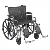Sentra Extra Heavy Duty Wheelchair with Detachable Desk Arms and Elevating Leg Rest - std24dda-elr