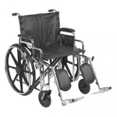 Sentra Extra Heavy Duty Wheelchair with Detachable Desk Arms and Elevating Leg Rest - std22dda-elr