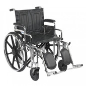 Sentra Extra Heavy Duty Wheelchair with Detachable Desk Arms and Elevating Leg Rest - std20dda-elr