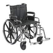 Sentra Extra Heavy Duty Wheelchair with Detachable Adjustable Desk Arms and Swing Away Footrest - std22adda-sf