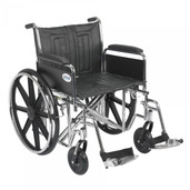Sentra EC Heavy Duty Wheelchair with Detachable Full Arms and Swing Away Footrest - std22ecdfa-sf