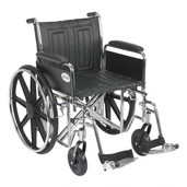Sentra EC Heavy Duty Wheelchair with Detachable Full Arms and Swing Away Footrest - std20ecdfahd-sf