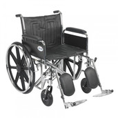 Sentra EC Heavy Duty Wheelchair with Detachable Full Arms and Elevating Leg Rest - std22ecdfa-elr