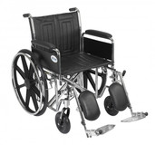 Sentra EC Heavy Duty Wheelchair with Detachable Full Arms and Elevating Leg Rest - std20ecdfahd-elr