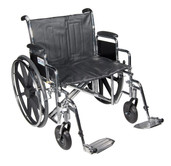 Sentra EC Heavy Duty Wheelchair with Detachable Desk Arms and Swing Away Footrest - std24ecdda-sf