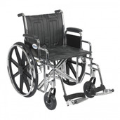 Sentra EC Heavy Duty Wheelchair with Detachable Desk Arms and Swing Away Footrest - std20ecddahd-sf