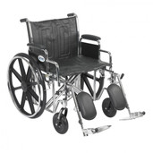 Sentra EC Heavy Duty Wheelchair with Detachable Desk Arms and Elevating Leg Rest - std22ecdda-elr