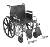 Sentra EC Heavy Duty Wheelchair with Detachable Desk Arms and Elevating Leg Rest - std20ecddahd-elr