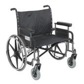 Sentra Heavy Duty Wheelchair with Detachable Full Arms - std30dfa