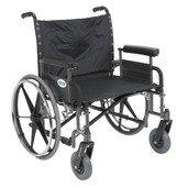 Sentra Heavy Duty Wheelchair with Detachable Full Arms - std26dfa