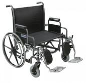 Sentra Heavy Duty Wheelchair with Detachable Desk Arms - std30dda