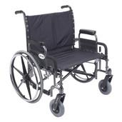 Sentra Heavy Duty Wheelchair with Detachable Desk Arms - std28dda