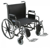 Sentra Heavy Duty Wheelchair with Detachable Desk Arms - std26dda