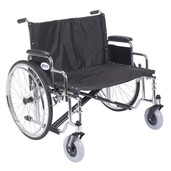 Sentra EC Heavy Duty Extra Wide Wheelchair with Detachable Desk Arms - std30ecdda