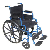Wheelchair with Flip Back Desk Arms and Swing Away Footrest. The Blue Streak - bls20fbd-sf