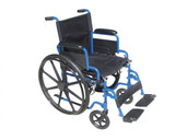 Wheelchair, Blue Streak, with Flip Back Desk Arms and Swing Away Footrest - bls16fbd-sf