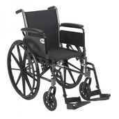 "Light Weight Wheelchair with Flip Back Removable Full Arms and Swing Away Footrest. 20"" Seat - k320dfa-sf"