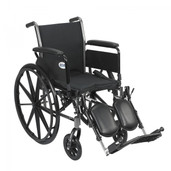 "Light Weight Wheelchair with Flip Back Removable Full Arms and Elevating Leg Rest. 16"" Seat  - k316dfa-elr"