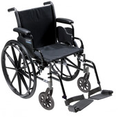 "Light Weight Wheelchair with Flip Back Removable Desk Arms and Swing Away Footrest. 20"" Seat - k320dda-sf"