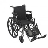"Light Weight Wheelchair with Flip Back Removable Desk Arms and Elevating Leg Rest. 18"" Seat- k318dda-elr"