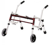 Flame Red Pediatric Glider Walker - 10221frd-1