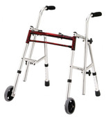 Flame Red Junior Glider Walker - 10222frd-1