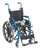 "Wheelchair -  Wallaby by Drive Medical. Folding Pediatric Blue 14"" WB 1400"