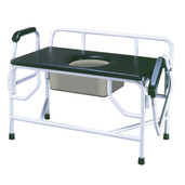 Bariatric Drop Arm Bedside Commode Seat - 11132-1