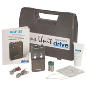 Portable Dual Channel TENS Unit with Electrodes and Carry Case - agf-3e