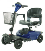 Compact Scooter - 4 Wheel Blue Bobcat  - s38651