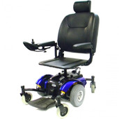 Power Wheelchair with Pan Seat Mid-Wheel Blue Intrepid- intrepidp22bl18ps