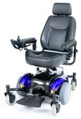 Power Wheelchair with Captain Seat Mid-Wheel - Blue Intrepid   - intrepidbl20cs