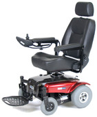 Power Wheelchair with Captain Seat Red Medalist  - medalistrd20cs