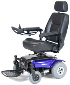 Power Wheelchair with Captain Seat Blue - medalistbl18cs