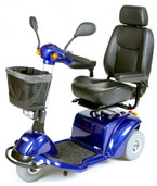 Power Scooter Blue Pilot 3-Wheel  - pilot2310bl18cs