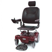 Power Wheelchair with Pan Seat Red Renegade - renegadep24rd20ps