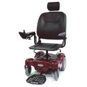 Red Renegade Power Wheelchair with Pan Seat Red Renegade  - renegadep24rd18ps