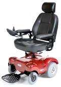 Power Wheelchair with Captain Seat Red Renegade - renegaderd22cs