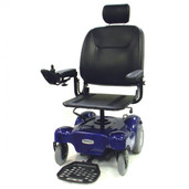Power Wheelchair with Pan Seat Renegade Blue- renegadep24bl18ps