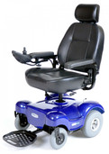 Power Wheelchair with Captain Seat Renegade Blue - renegadebl22cs