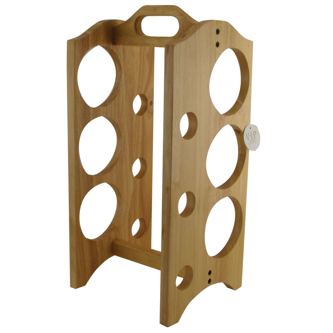 Wood Wine Rack For 6 Bottles Cuban Crafters