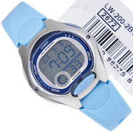 Casio Illuminator Light Blue Womens Sports Watch LW-200-2B LW200