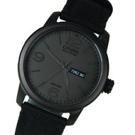 Citizen BM8475-00F Black Canvas Strap