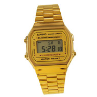 Casio Illuminator Mens Digital Alarm Watch A168 A168W A168WG-9WDF